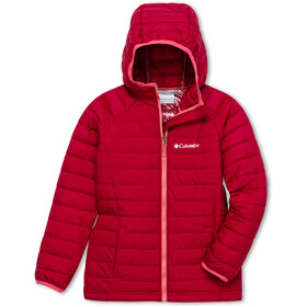 Columbia Powder Lite Hooded Jacket Girls pomegranate